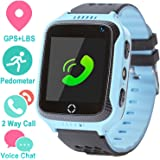 Life Like Kids Smartwatch Phone for Girls and Boys with GPS Locator, Pedometer, Fitness Tracker, Camera, Games, Light Touch and Anti Lost Alarm(Blue)
