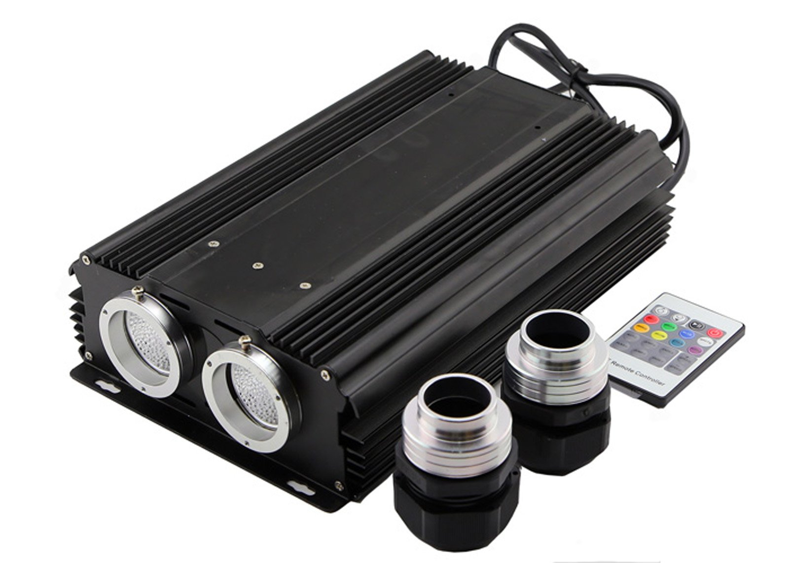 corpereal Led Illuminator Light ,60W High Power Dual Port Multi Color With RF Remote For All Fiber Optic Lights