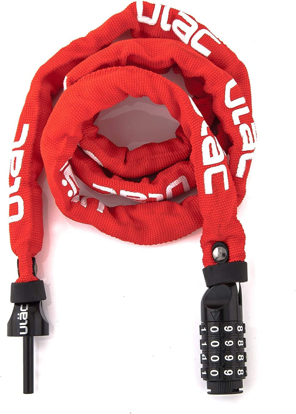 Resettable 4-Digit Combination Anti-Theft Bicycle Lock ULAC 52ND Street Neo Chain Lock Combo