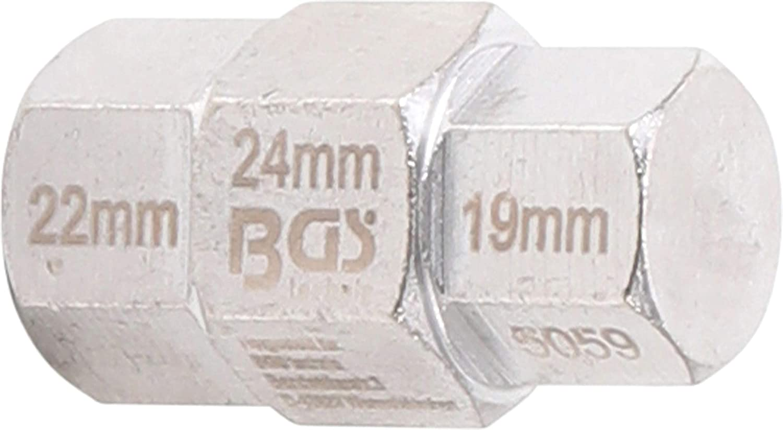 Motorrad Innensechskant Steckachsen Nuss 17-19-22-24 mm silber