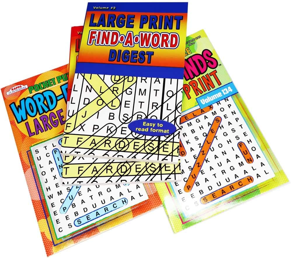 Omura Large Print Combo Set Word Finds & Find a Word | Digest Size Pocket Book