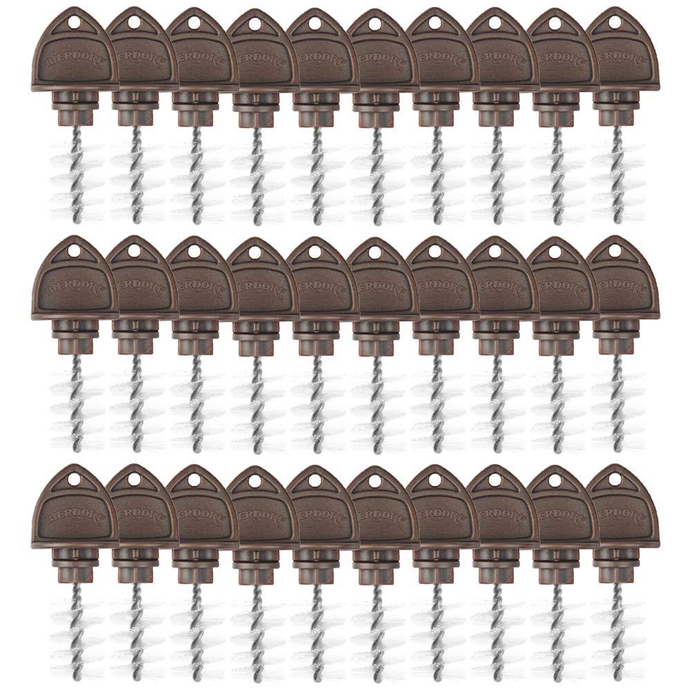 Leijing Beer Tap Plug Brush, Black Beer Faucet Brush Plugs Beer Faucet Tap Cleaning Plug Hygiene Brush for Draft Beer Faucet Cap (15PCS)