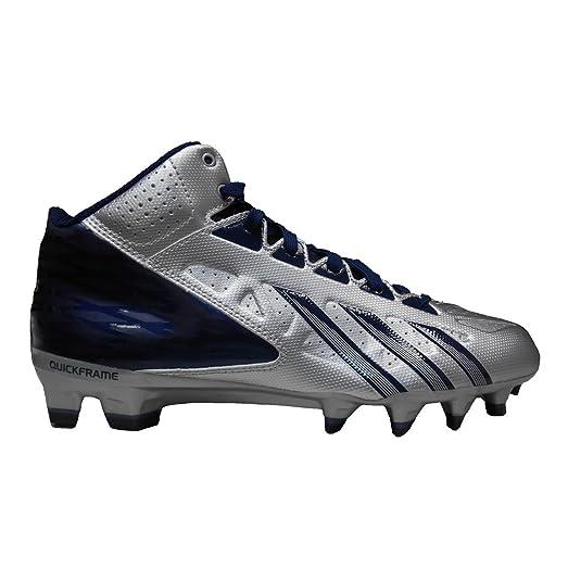 adidas Men's FilthyQuick Mid Football Cleats (11.5, Platinum/Collegiate  Navy/Collegiate Navy