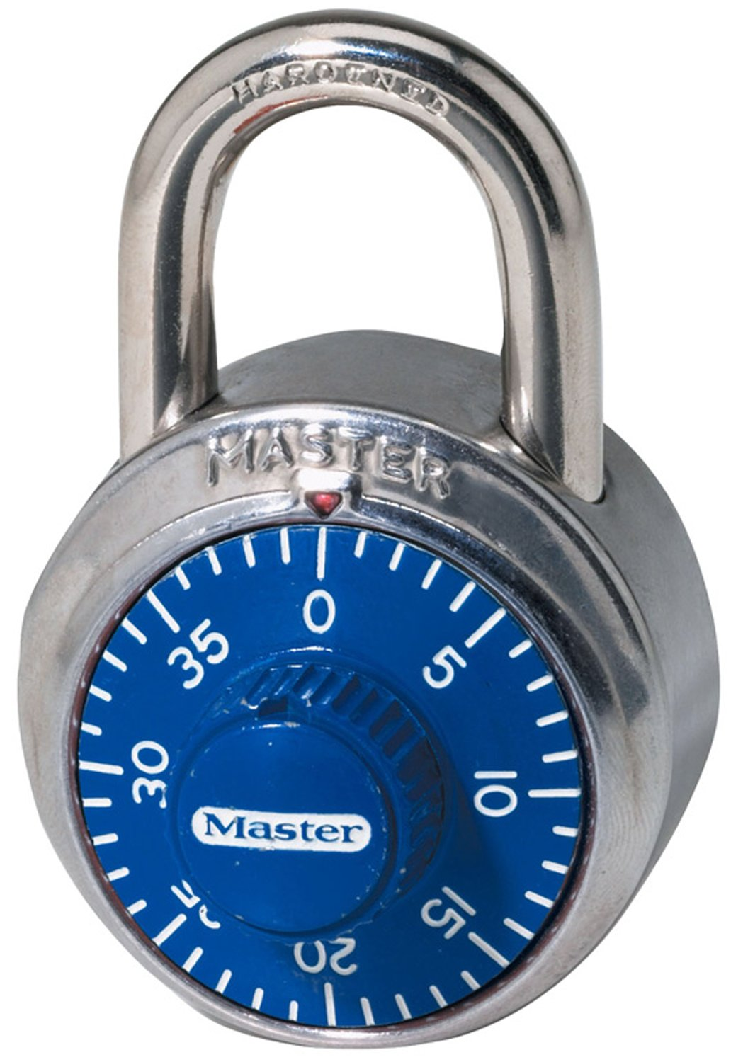 Master Lock 1506D 1-7/8in Combination Lock; Blue Dial Padlock
