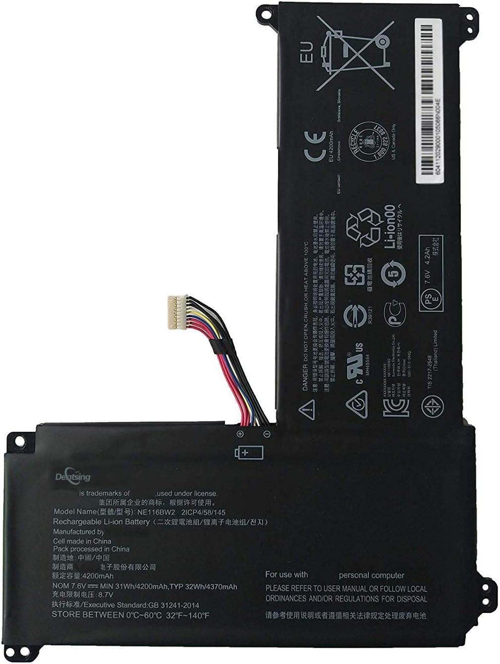 Dentsing NE116BW2 (7.5V 32Wh/4370mAh) Laptop Battery Compatible with Lenovo IdeaPad 110S 110S-11IBR Series Notebook 0813004 5B10M53616 2ICP4/58/145