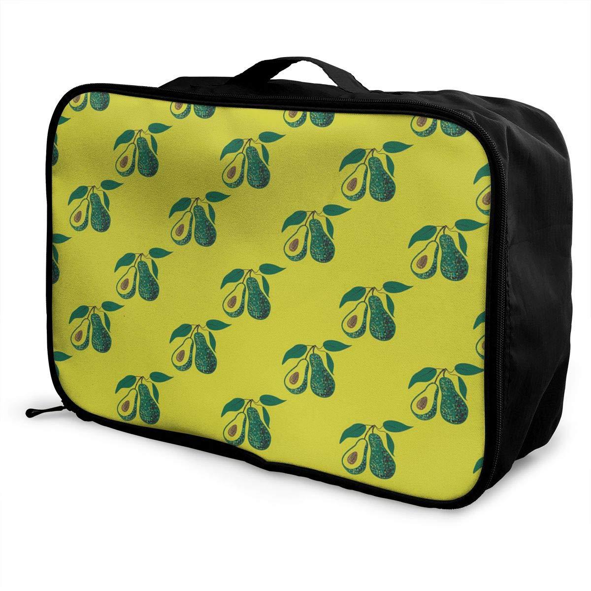 Women /& Men Foldable Travel Duffel Bag Pink Avocado Pattern For Luggage Gym Sports
