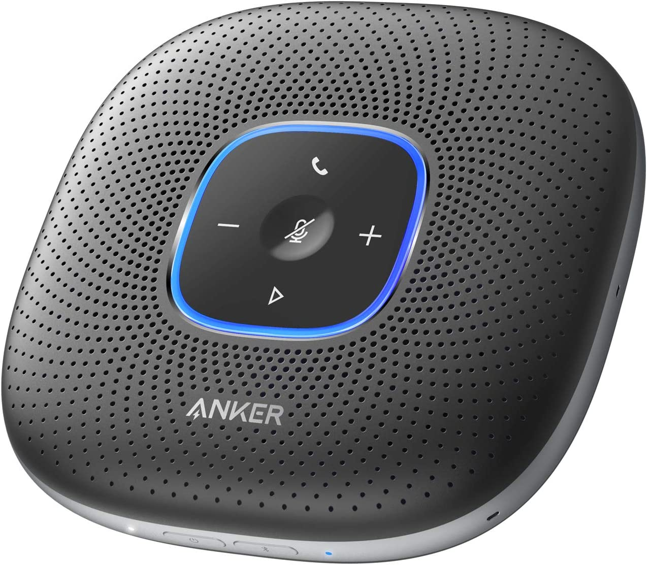 Anker PowerConf (会議用 Bluetooth スピーカーフォン)【 全指向性 マイク/オートゲインコントロール/エコーキャンセリング/ノイズリダクション/モバイルバッテリー機能/Skype Zoom など対応 / 24時間連続使用 / USB-C接続/ビデオ会議/PowerIQ 対応】