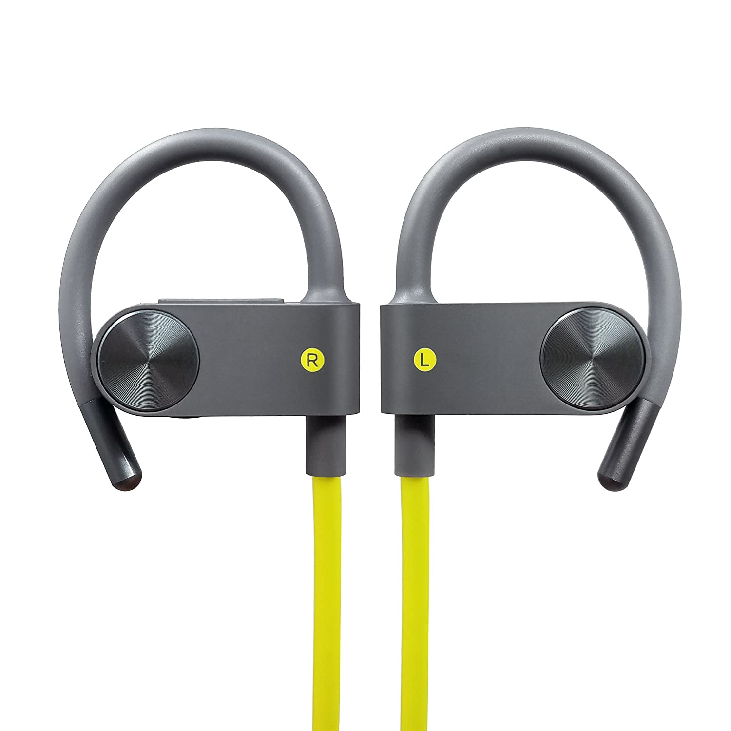 Photive BT55G Sport Bluetooth Headphones, Wireless Earbuds for Running, Gym, Workout. In-Ear Sweatproof Secure-Fit Earphones with built-in Mic and Remote in Headset PH-BTE55G