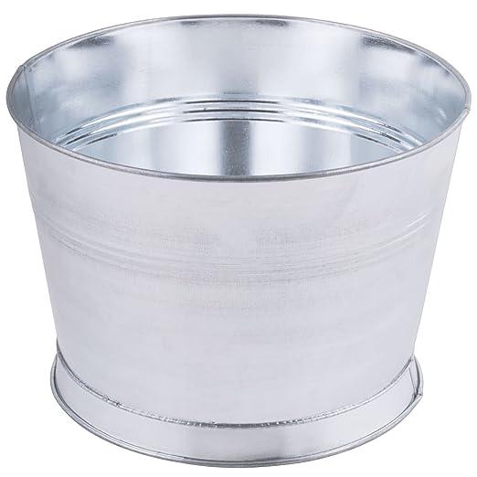 Cubo de metal redondo para mesa King de 25,4 cm: Amazon.es: Hogar