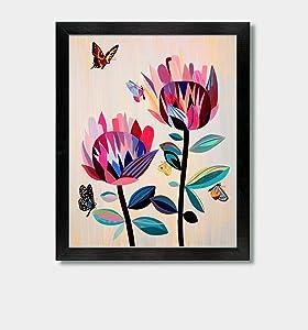 Through The Eyes Of A Butterfly - by Artist Jason Smith - Flowers, Floral Art, Butterfly Print, Butterfly Art, Colorful Decor, Butterflies, Art Print, Boho Decor, Nature Artwork, Garden Art, Gardener