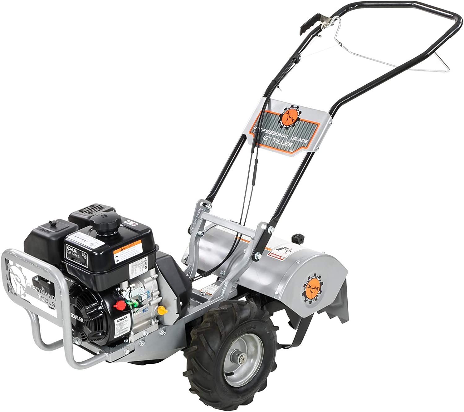 Earthwise TC70016 16-Inch 13.5 Amp Corded Electric Tiller Cultivator, Grey Renewed