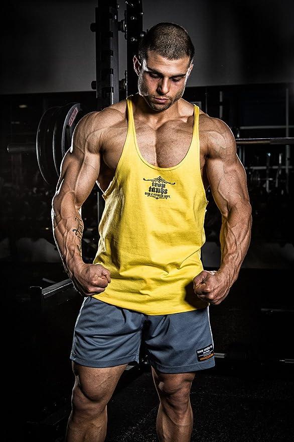 cf9417072 Amazon.com: Iron Tanks Marauder Stringer Singlet - Arnold Yellow - Gym  Bodybuilding Fitness: Clothing