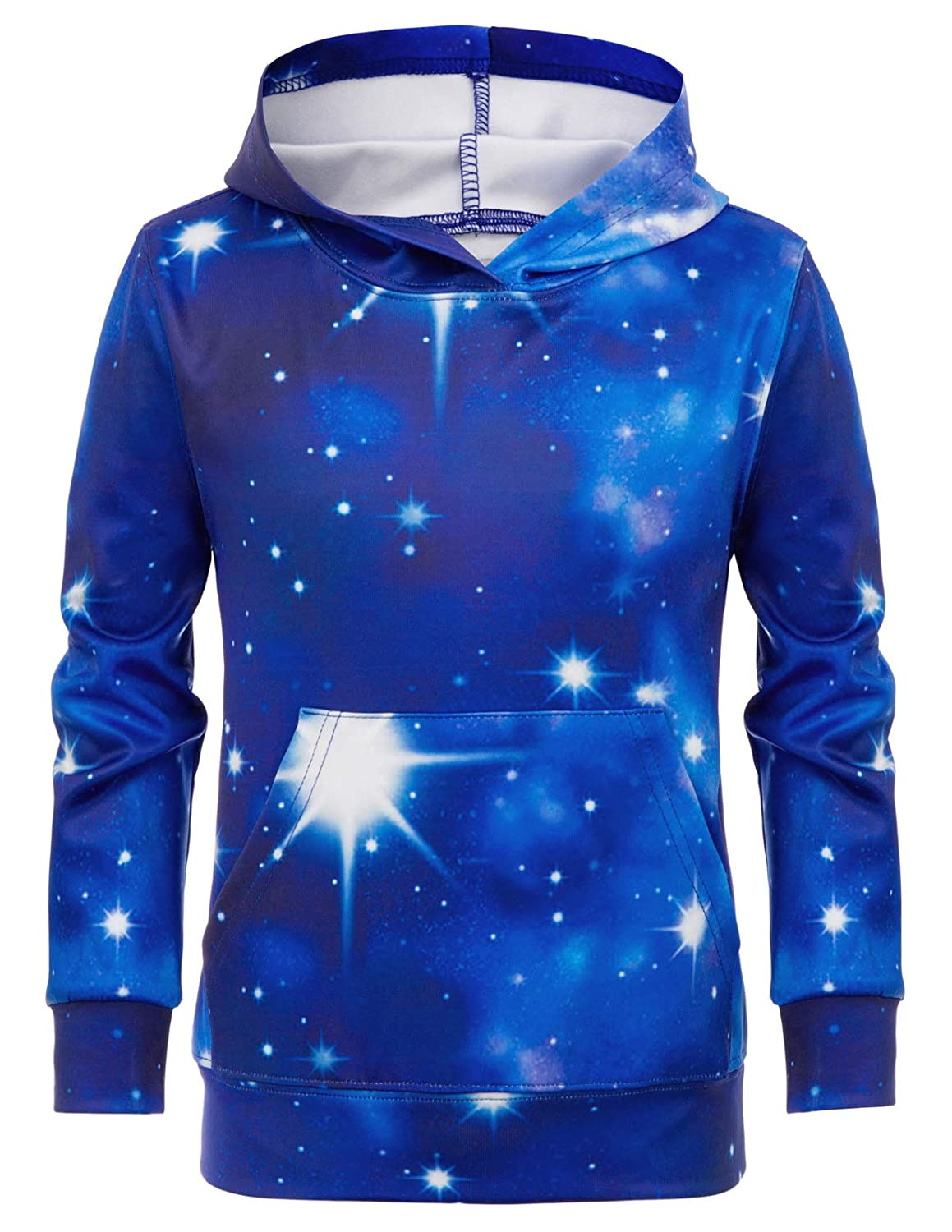 Danna Belle Unisex Galaxy Printing Hoodies Top Pullover with Pocket