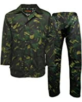 Men's GAME Camo Camouflage Wax Army Military Jacket Trousers Suit