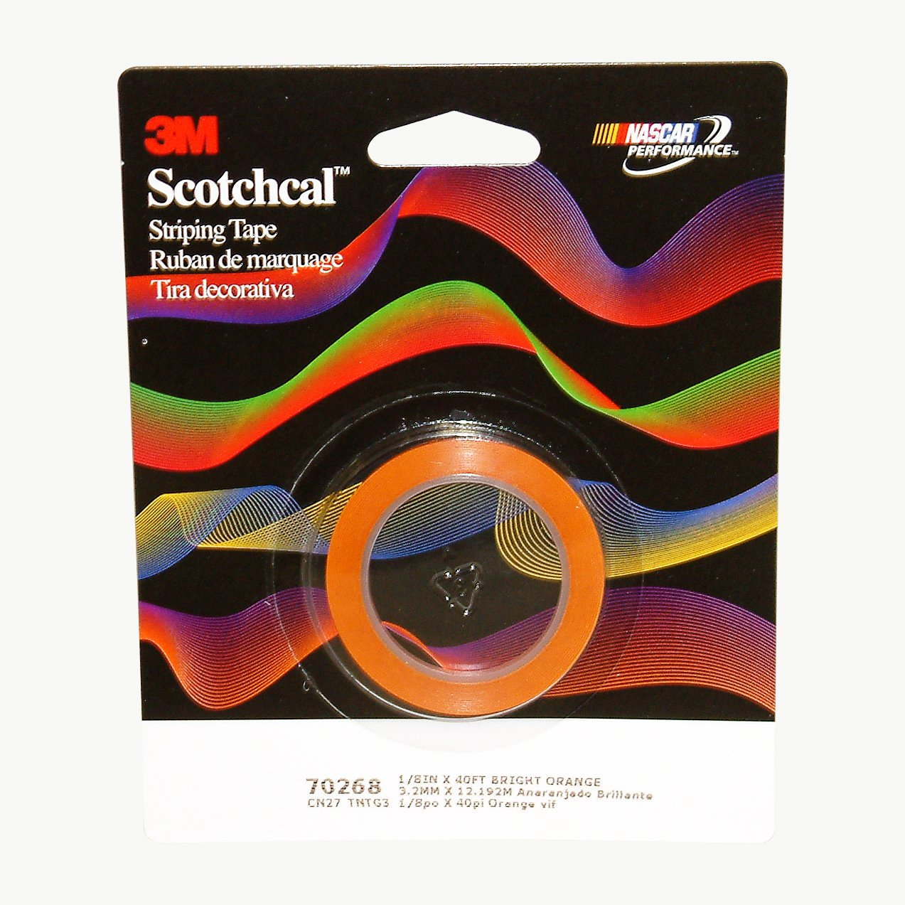 White 1//8 inch 70201 3M Scotchcal Striping Tape