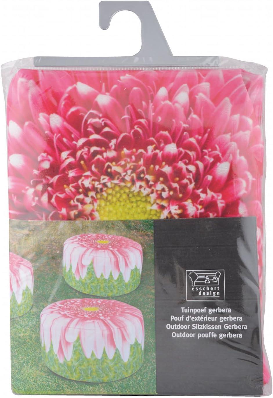 Sunflower Fun Flower Design Outdoor Pouffe Water Repellent Washable Garden Seat 58cm x 32.5cm