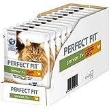 Perfect Fit Katzen-/Nassfutter Senior 7+ für ältere Katzen Senior mit Truthahn & Karotten, 12 Portionsbeutel (12 x 85 g)