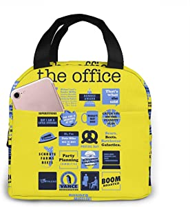 antspuent The Office Lunch Bag for Women Girls Kids Insulated Picnic Pouch Thermal Cooler Tote Bento Large Meal Prep Cute Bag Big Leakproof Soft Bags for Lunch Box, Camping, Travel, Fishing