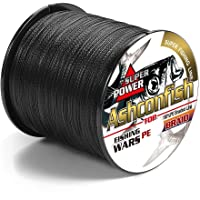 Ashconfish Braided Fishing Line - Real Color Fastness - 4 & 8 Braids/Strands - from 6lb 8lb to 300lb - Abrasion Resistant Braided Lines - Incredible Superline - Zero Stretch - Smaller Diameter