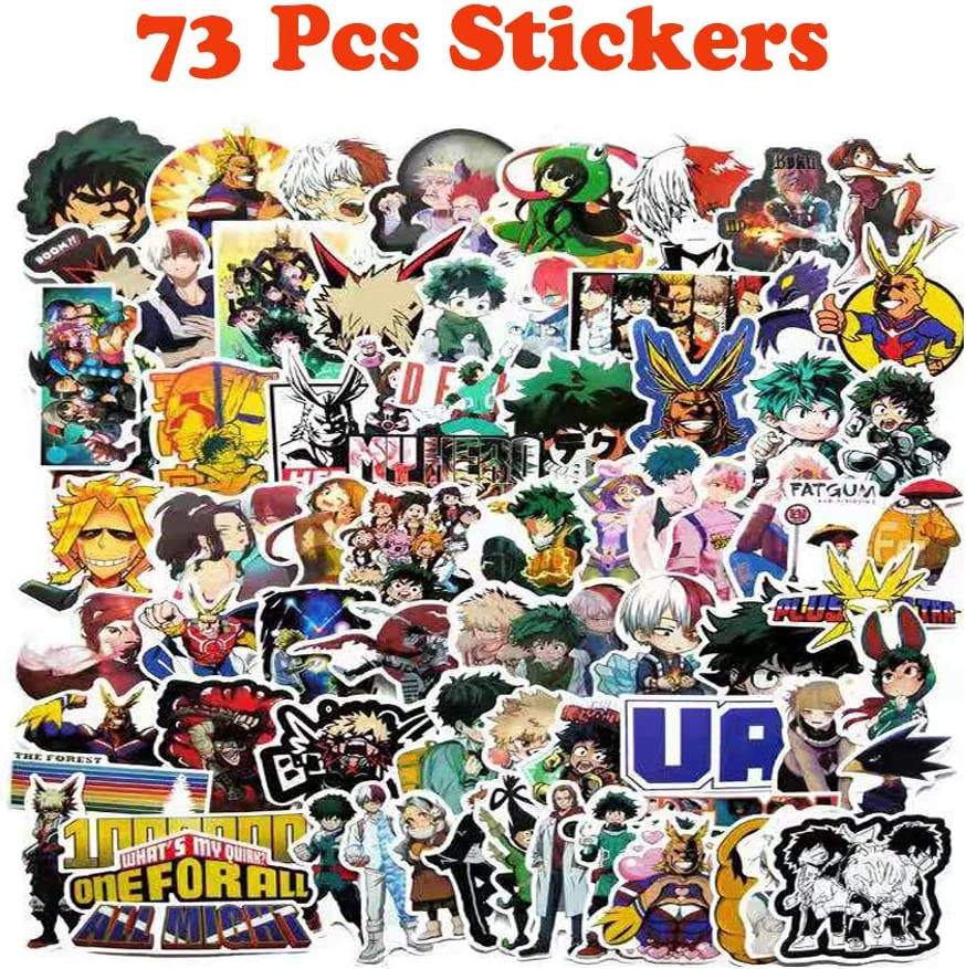 1Pack My Hero Academia Drawstring Bag  73Pcs Anime My Hero Academia Stickers  8Pcs My Hero Academia Poster A3 Paper My Hero Academia Gift Set for Fans 2Pcs Mouthmask