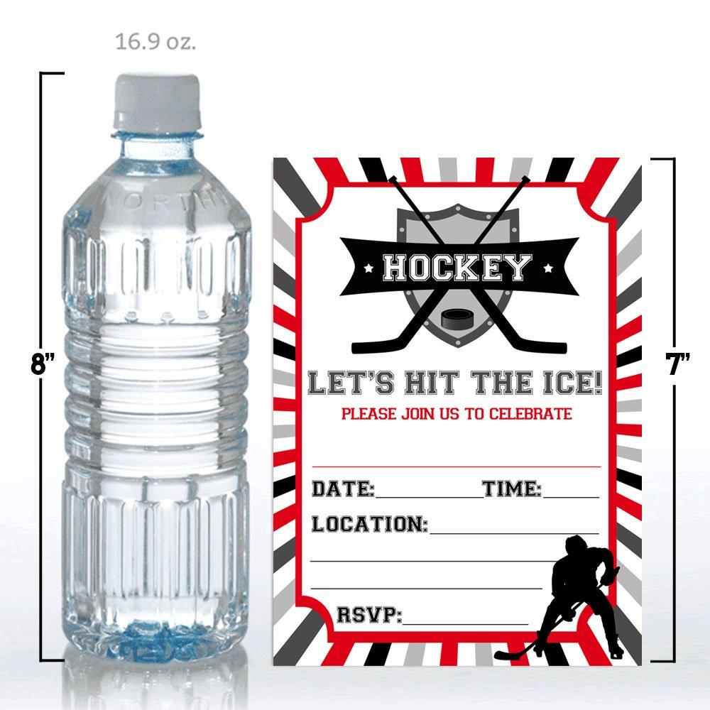 Amazon.com: Hockey Birthday Party Invitations for Boys, Ten 5\