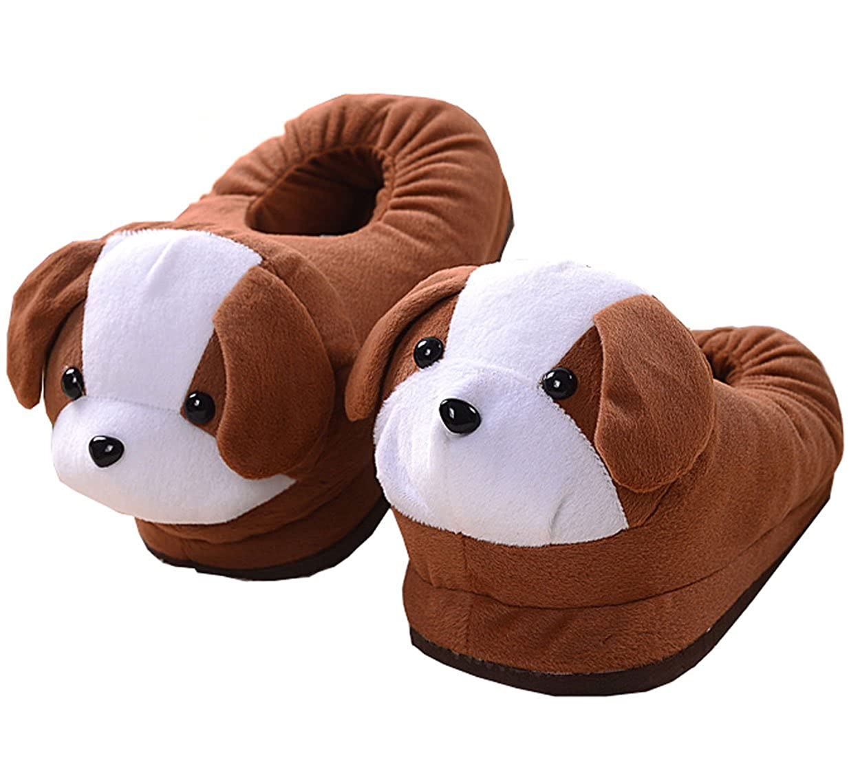 Cosnew Antiskid Coffee Color Dog Soft Plush Winter Warm Slippers