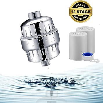 Filtro de ducha para agua dura, purificador de agua de 12 etapas ...