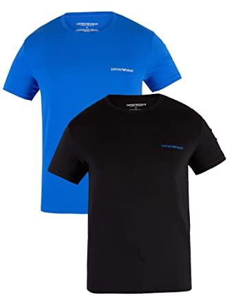 37cbab3b Image Unavailable. Image not available for. Color: Emporio Armani Men's 2  Pack Crew T-Shirts ...