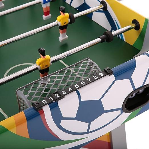 Lixada Mesa de futbolín Juego de fútbol sala Kicker montado mesa ...