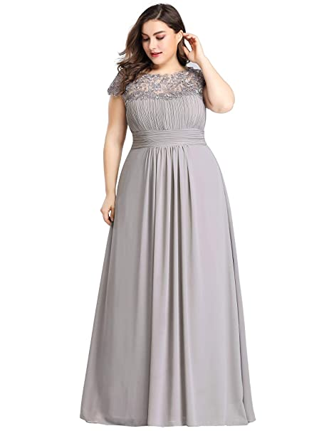 Ever-Pretty Women\'s Plus Size Lace Cap Sleeve Long Formal Evening Party  Maxi Dresses 9993PZ