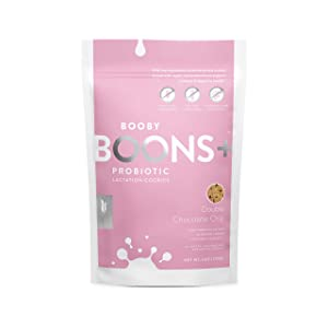 Booby Boons Lactation Cookies +Probiotics, Double Chocolate Chip, 6 Ounce Bag – Gluten-Free, Soy-Free, Fenugreek-Free Ingredients, 1 Billion Probiotics (CFU) Per Serving. The milk's on the way!