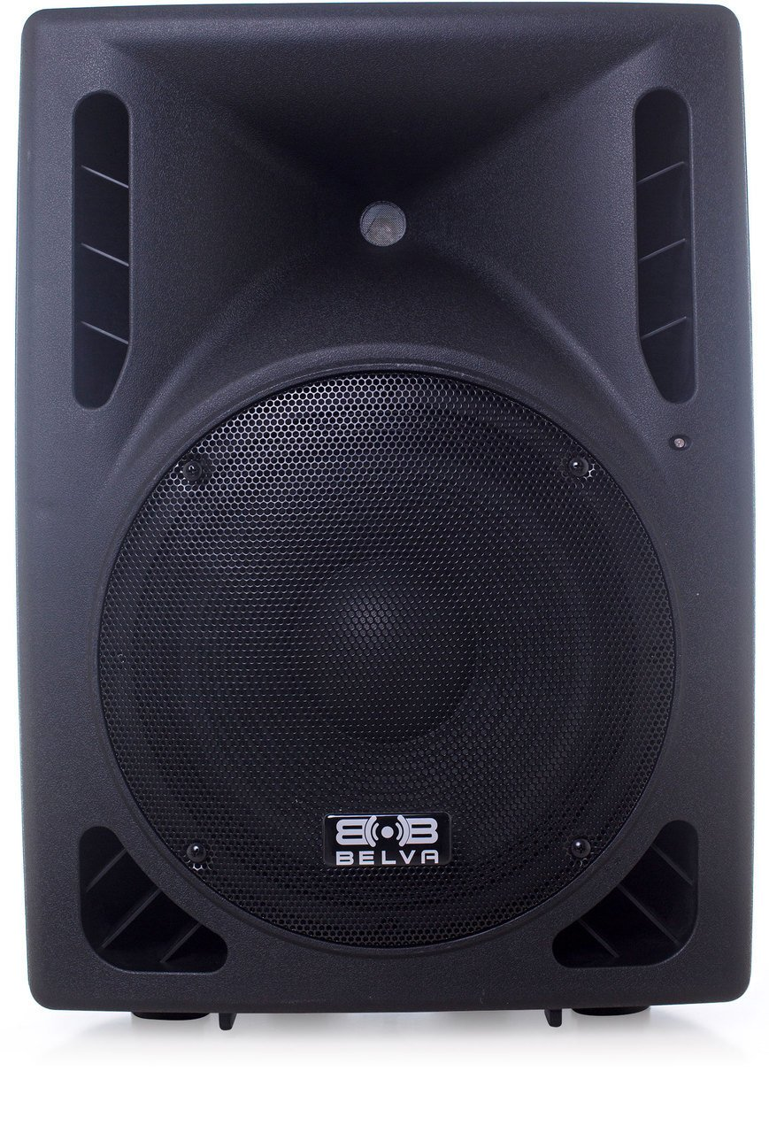 Belva BDRS-12BLU 12-inch Active Pro/DJ Speaker with Integrated Bluetooth USB & SD MP3 Player 800W Max Powered 2-way Professional Speaker with Mic Inputs and MP3 Playback [DRS-12BLU] by Belva