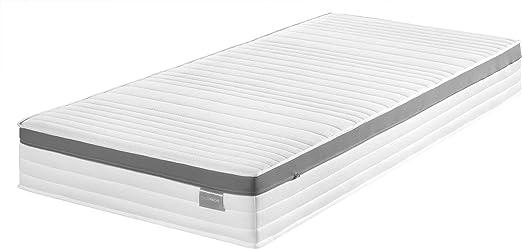 Traumnacht Komfort 7 Zonen Kaltschaummatratze Mit Memoryschaumauflage Härtegrad 2 H2 140 X 200 Cm Weiß