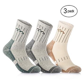 Overmont 3 pares de calcetines de algodón para hombre adulto (41/46) secado