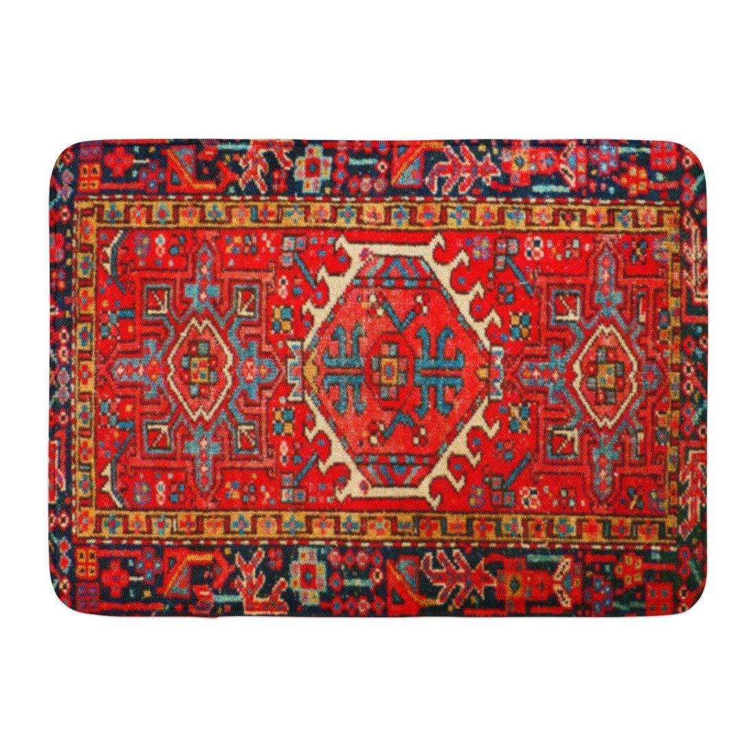Coolest Secret Bath Mat Iran Persian Carpet Oriental Glam Iranian Ethnic Traditional Tribal Bathroom Decor Rug 16'' x 24''