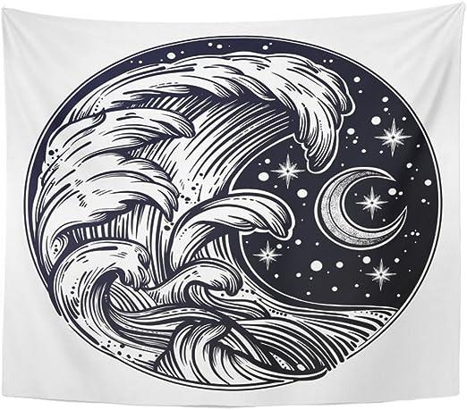 Tapiz con diseño de mandala, 60 x 80 cm, para decoración del hogar ...