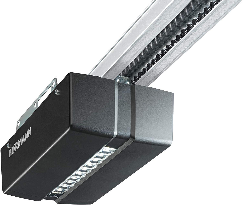 Accionamiento para puerta de garaje Hörmann Pro Matic Serie 4 (apertura de puerta con mando, HSE 4, cable de conexión, ancho de puerta 5000 mm/superficie de hoja de puerta máx. 11,25m2) 4510293, negro