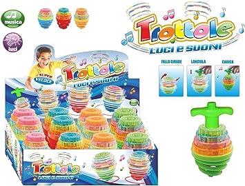 D&D Lote de 12 Peonzas Luces y Sonidos Peonza trompo, Juguetes para niños, Juego de peonzas, Creativo Juguete, Regalos para Comuniones, Niños, Niñas, Fiesta cumpleaños favores: Amazon.es: Juguetes y juegos