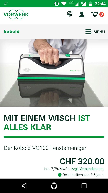 Vorwerk Kobold vg100 limpiador de ventanas, ventanas, Aspiradora: Amazon.es: Bricolaje y herramientas
