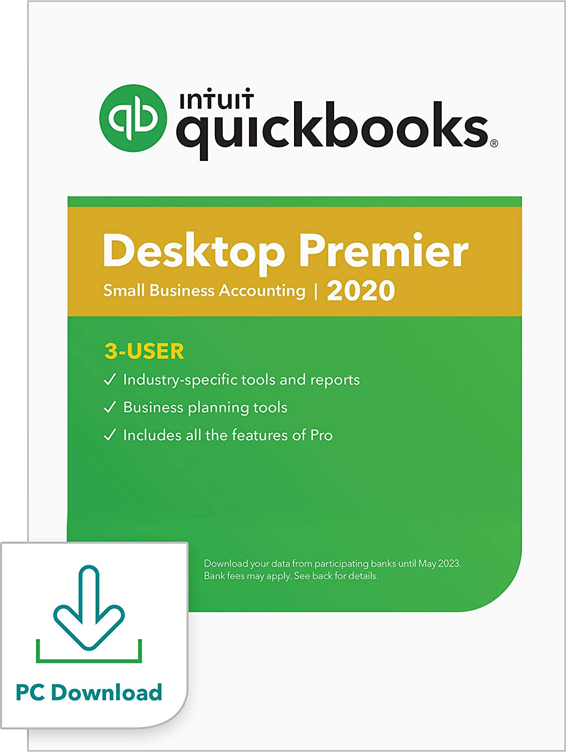 QuickBooks Desktop Premier 2020 Accounting Software for Business for Small Business - 3 User [PC Download]