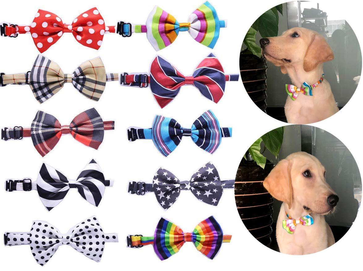 3980f2d115da Amazon.com : yagopet 10pcs/Pack New Pet Dog Bowties Dog Collar neckties Dog  Ties Adjustable Pet Grooming Products Dog Accessories : Pet Supplies