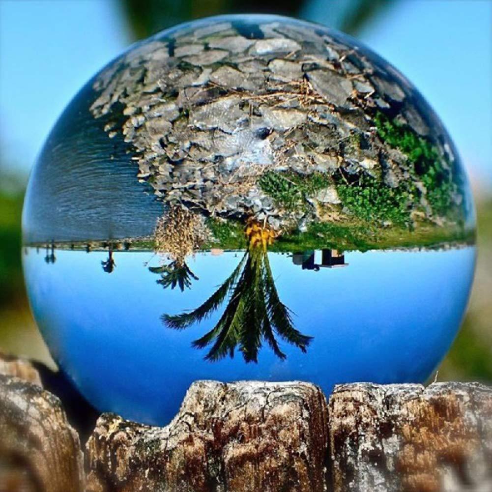 ZYCX123 8cm Claro Bola de Cristal Esfera de Meditaci/ón Bola de adivinaci/ón e interpretaci/ón de Cristal Fotograf/ía Ball decoraci/ón con el Cristal Libre del Soporte y Accesorios /índice