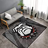 Georgia Bulldogs Picture Ultra Soft Carpet Indoor Non Slip Area Rugs Dining Room Home Carpets Suitable for Children Living Ro