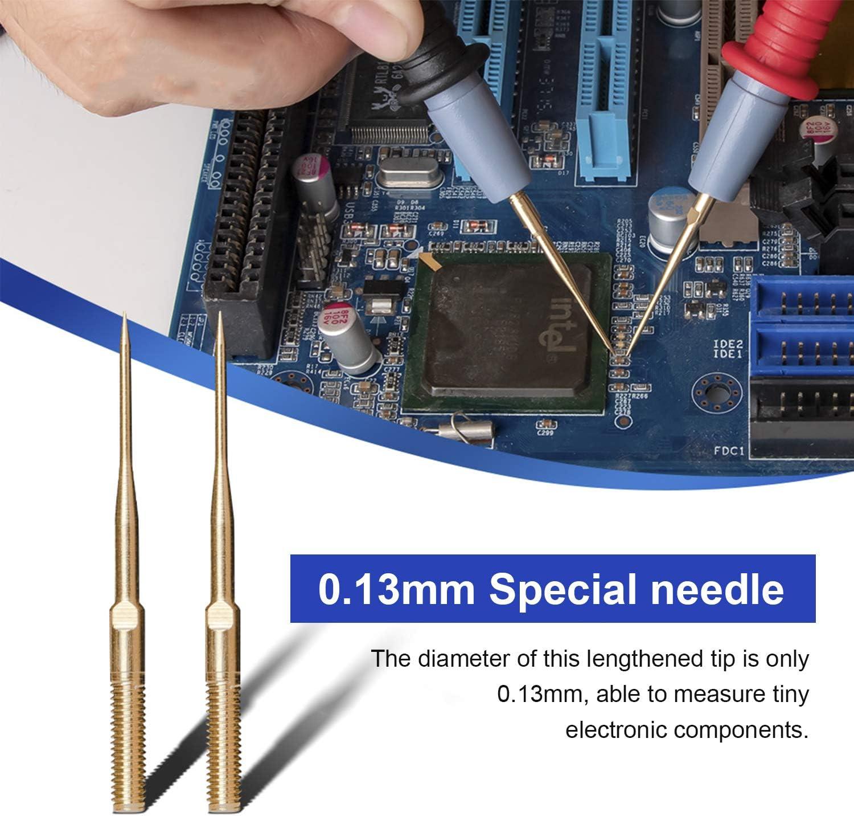 KKmoon 16Pcs Cavo per Test Multifunzione Kit Sonda di Prova Elettronica Set di Puntali Digitali Set di Punte Super Affilate Linee di Prova in Silicone