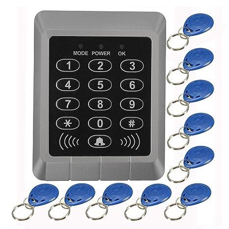 security reader entry door lock keypad access control system+10 pcs keys - access  control