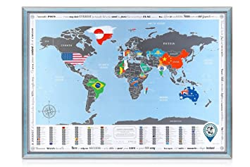 Amazon framed world map with scratch off flags edition framed world map with scratch off flags edition original from manufacturer detailed gumiabroncs Gallery