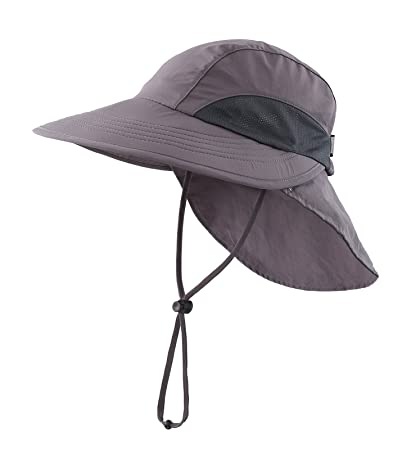 393546f40c7 Home Prefer Unisex 4 quot  Long Bill Flap Hat Sun Hats Safari Outback Hat  with Neck