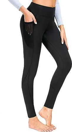 Munvot Pantalon Running Femme avec Poche Collant Sport