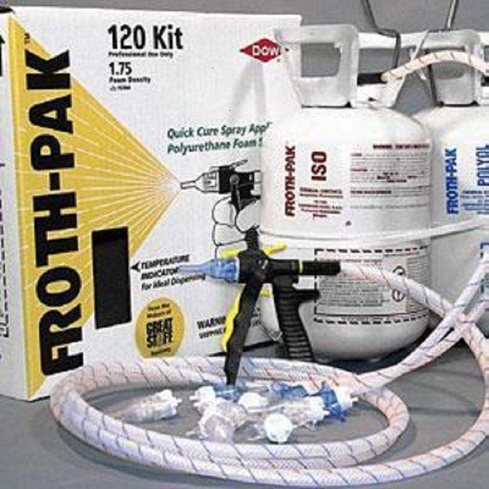 exterior spray foam sealant. dow froth pak 120 spray foam kit - 346965 weather stripping amazon.com exterior sealant