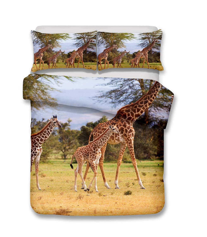 Stillshine Ensemble De Literie Girafe Housse De Couette Et Taie